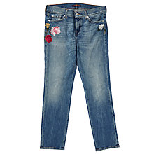 Buy 7 For All Mankind Roxanne Mid Rise Slim Jeans, Blue Online at johnlewis.com
