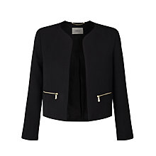 Buy Marella Goletta Cropped Jacket, Black Online at johnlewis.com
