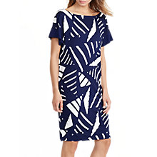 Buy Lauren Ralph Lauren Boat Neck Dress, Navy/Antique Ivory Online at johnlewis.com