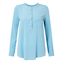 Buy Marella Rise Silk Front Blouse, Light Blue Online at johnlewis.com