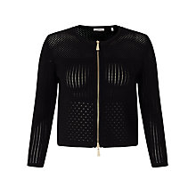 Buy Marella Nebula Zip Through Cardigan, Black Online at johnlewis.com