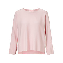 Buy Marella Nodo Lightweight Knit With Stepped Hem, Pink Online at johnlewis.com