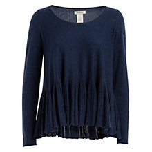 Buy Max Studio Frill Hem Jumper, Dark Heather Blue Online at johnlewis.com