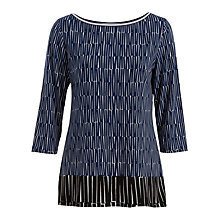 Buy Max Studio 3/4 Sleeve Printed Jersey Top, Night/Black Online at johnlewis.com