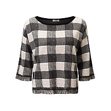 Buy Marella Brunico Check Top, Black Online at johnlewis.com
