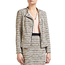 Buy Gerry Weber Zip Through Tweed Jacket, Marzipan/Cinnamon Online at johnlewis.com