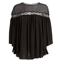 Buy Max Studio Chiffon Top, Black Online at johnlewis.com