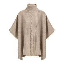 Buy Max Studio Roll Neck Textured Poncho, Beige Online at johnlewis.com
