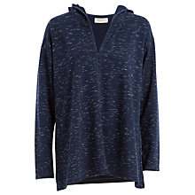 Buy Max Studio Space Dye Hooded Top, Navy/Ivory Online at johnlewis.com
