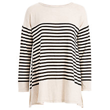 Buy Max Studio Long Sleeve Stripe Jersey Top, Bone/Black Online at johnlewis.com