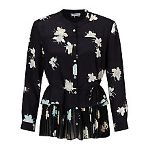 Buy Marella Luchino Silk Floral Print Blouse, Black Online at johnlewis.com