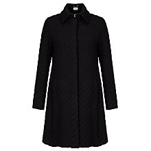 Buy Marella Mila Long Textured Coat, Black Online at johnlewis.com