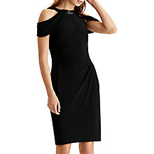 Buy Lauren Ralph Lauren Halterneck Cold Shoulder Jersey Dress, Black Online at johnlewis.com