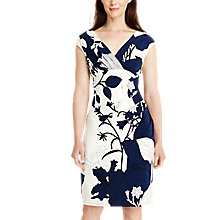 Buy Lauren Ralph Lauren Floral Print Jersey Dress, Deep Sapphire/Colonial Cream Online at johnlewis.com