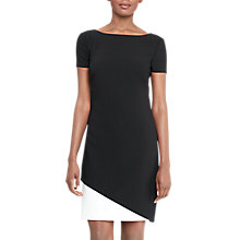 Buy Lauren Ralph Lauren Two-Tone Shift Dress, Black/Pearl Online at johnlewis.com