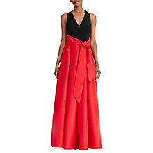 Buy Lauren Ralph Lauren Dual-Toned Maxi Dress, Red/Black Online at johnlewis.com