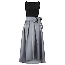 Buy Lauren Ralph Lauren Sleeveless Flared Dress, Steel/Black Online at johnlewis.com