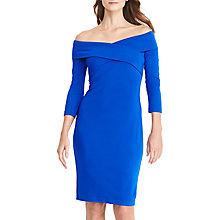 Buy Lauren Ralph Lauren Off-The-Shoulder Jersey Dress, Port Blue Online at johnlewis.com