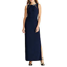 Buy Lauren Ralph Lauren Embelished Maxi Dress, Lighthouse Navy Online at johnlewis.com
