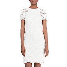 Buy Lauren Ralph Lauren Lace Sheath Dress, Ivory Online at johnlewis.com