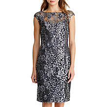 Buy Lauren Ralph Lauren Floral Sequin Dress, Black/Silver Online at johnlewis.com