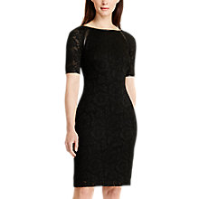 Buy Lauren Ralph Lauren Floral Lace Dress, Black Online at johnlewis.com