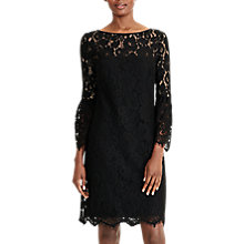 Buy Lauren Ralph Lauren Lace Sheath Dress, Black Online at johnlewis.com