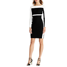 Buy Lauren Ralph Lauren Two Tone Dress, Black/Lauren White Online at johnlewis.com