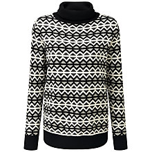 Buy Pure Collection Isabel Jumper, Black/Soft White Online at johnlewis.com