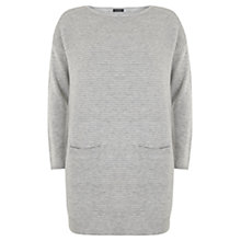 Buy Mint Velvet Patch Pocket Knitted Dress, Grey Online at johnlewis.com