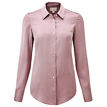 Buy Pure Collection Gloria Silk Blouse, Winter Mauve Online at johnlewis.com