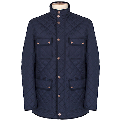 Image of Thomas Pink Harry Quilted Jacket, Navy