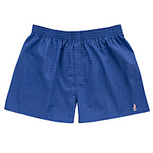 Buy Thomas Pink Synon Check Boxer Shorts, Blue/Multi Online at johnlewis.com