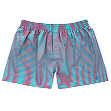 Buy Thomas Pink Riley Geo Print Boxer Shorts, Green/Red Online at johnlewis.com