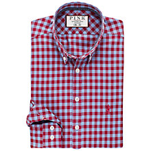 Buy Thomas Pink Maxwell Check Slim Fit Shirt, Pale Blue/Red Online at johnlewis.com