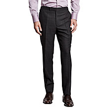 Buy Thomas Pink Laxford Check Wool Flannel Trousers, Charcoal/Red Online at johnlewis.com