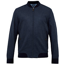 Buy Ted Baker Belise Herringbone Bomber Jacket, Blue Online at johnlewis.com