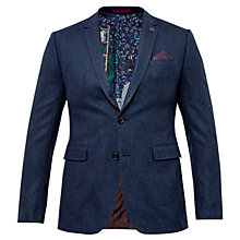 Buy Ted Baker Basil Herringbone Blazer, Blue Online at johnlewis.com
