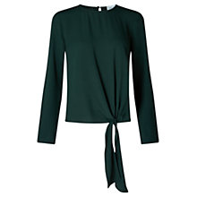 Buy Jigsaw Satin Back Crepe Top, Bottle Green Online at johnlewis.com