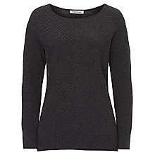 Buy Betty Barclay Chevron Ribbed Jumper, Dark Grey Melange Online at johnlewis.com