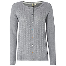 Buy White Stuff Wild Arran Cable Cardigan, Grey Marl Online at johnlewis.com