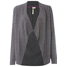 Buy White Stuff Joy Stately Cardigan, Charcoal Online at johnlewis.com