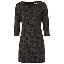 Buy White Stuff Dora Jacquard Jersey Tunic Top, Charcoal Online at johnlewis.com