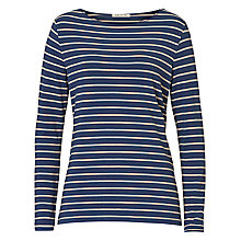 Buy Betty Barclay Striped T-Shirt, Dark Blue/Beige Online at johnlewis.com
