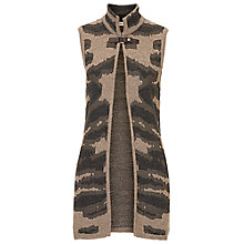 Buy Betty Barclay Sleeveless Cardigan, Taupe/Grey Online at johnlewis.com