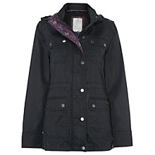 Buy White Stuff Salt Wax Jacket, Dark Charcoal Online at johnlewis.com