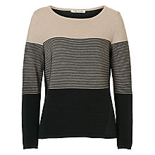 Buy Betty Barclay Ribbed Jumper, Dark Blue/Beige Online at johnlewis.com