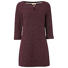 Buy White Stuff Ruby Jacquard Tunic Top, Burgundy Online at johnlewis.com