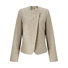 Buy Jigsaw Soft Wool Melange Jacket, Oyster Online at johnlewis.com