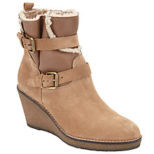 Buy John Lewis Patrice Wedge Ankle Boots, Neutral Online at johnlewis.com